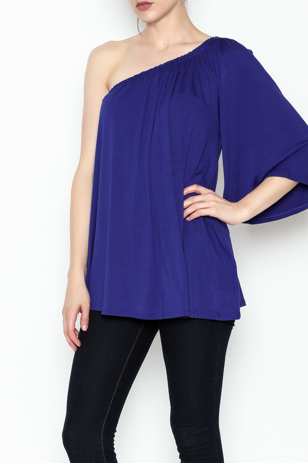 Hourglass Lilly One Shoulder Top - Main Image