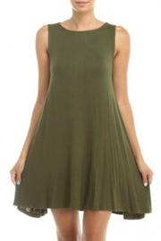 Hourglass Lilly Olive Shift Dress - Product Mini Image