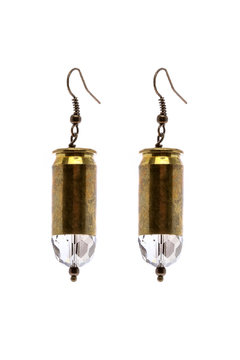 House of Cach Brass Bullet Earring - Product List Image