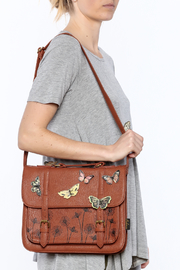 House of Disaster Brown Bohemian Bag - Back cropped