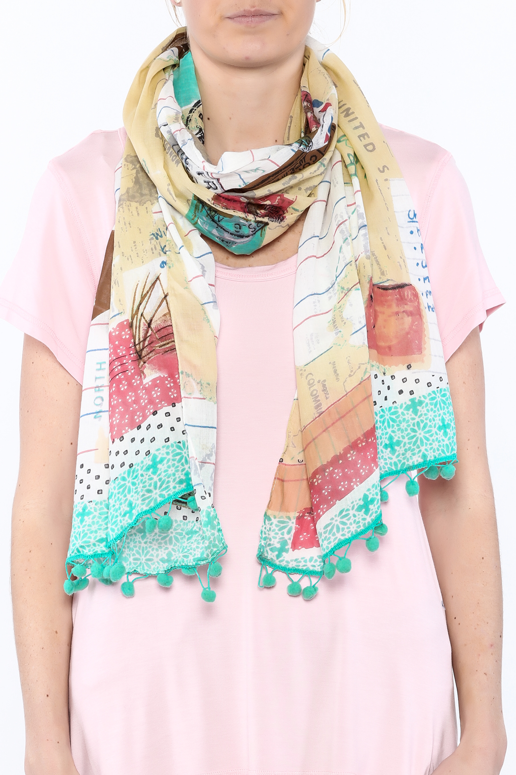House of Disaster Bon Voyage Scarf - Back Cropped Image