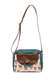 House of Disaster Meow Satchel Bag - Front cropped