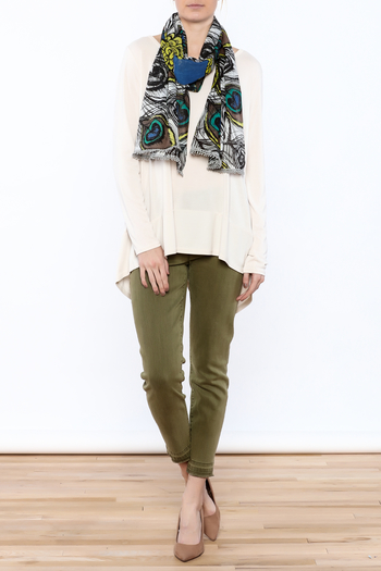 Shoptiques Product: Peacock Feather Print Scarf - main