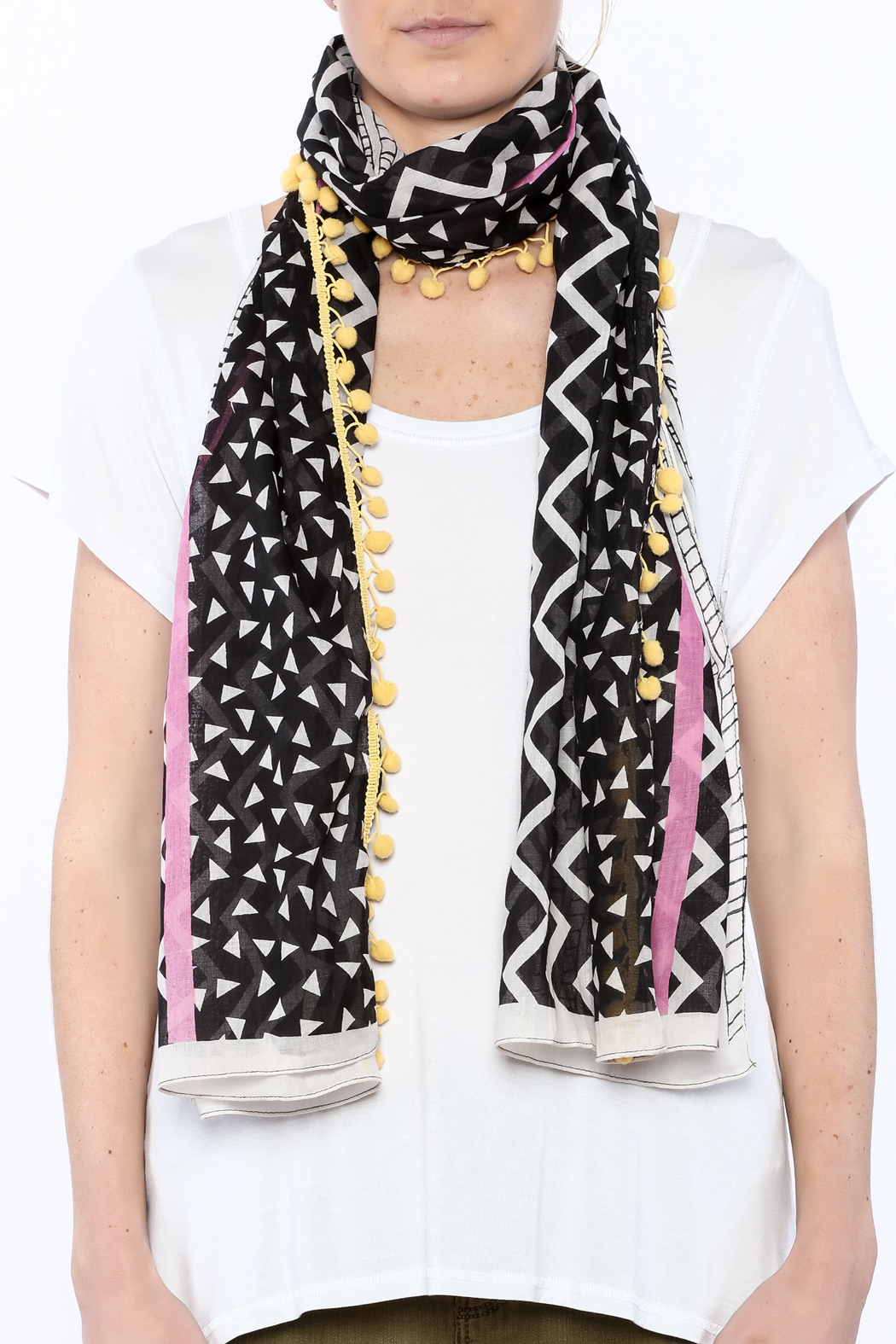 House of Disaster Zig Zag Scarf - Back Cropped Image