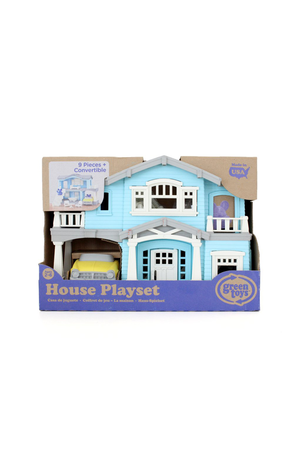 Green Toys House Playset - Front Full Image