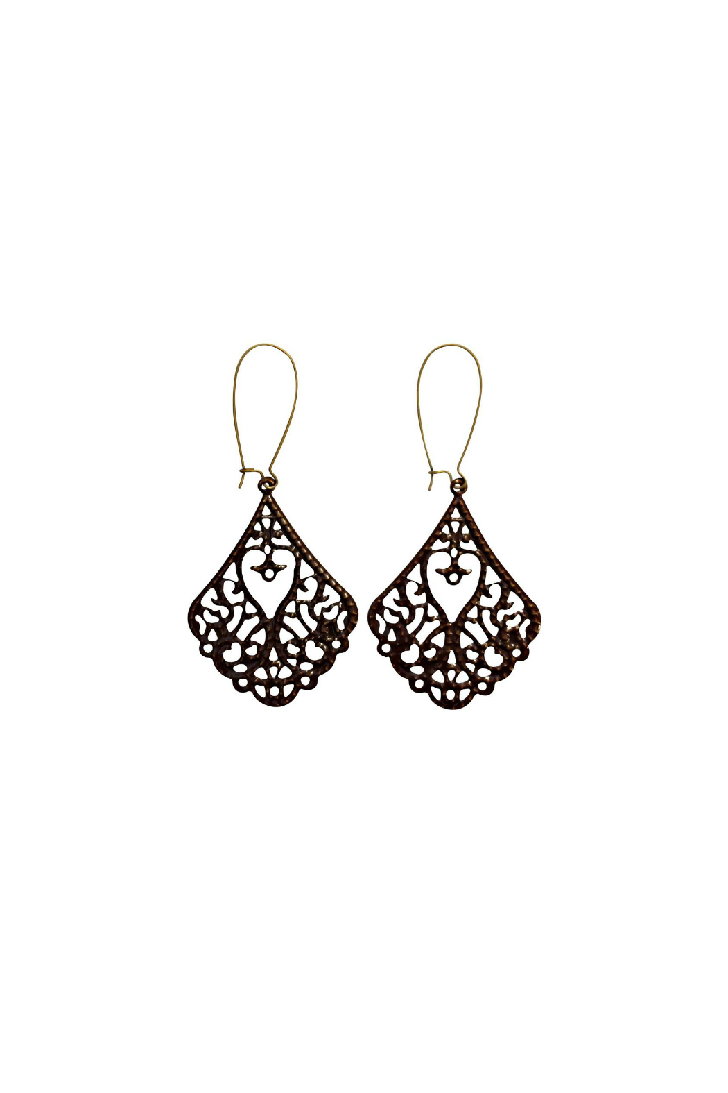 House and Garden Boutique Brown Filigree Earrings - Main Image