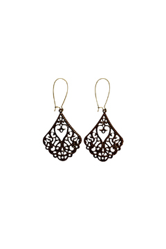 House and Garden Boutique Brown Filigree Earrings - Alternate List Image