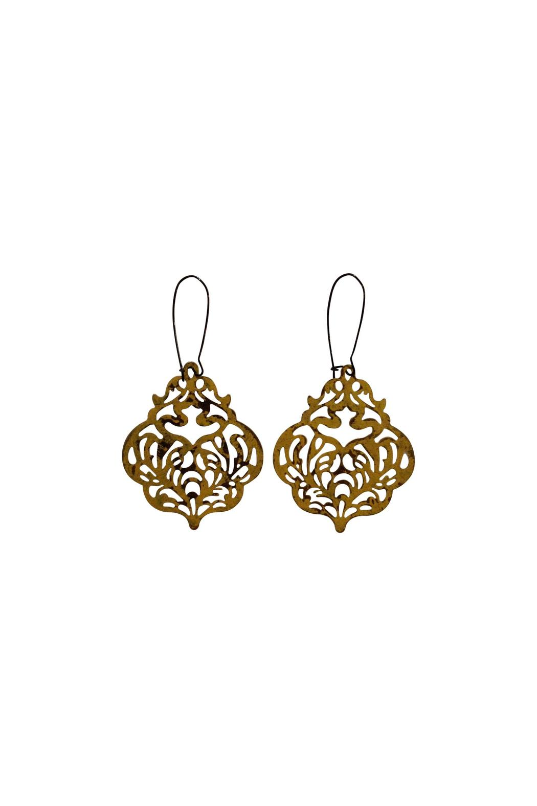 House and Garden Boutique Filigree Drop Earrings - Main Image