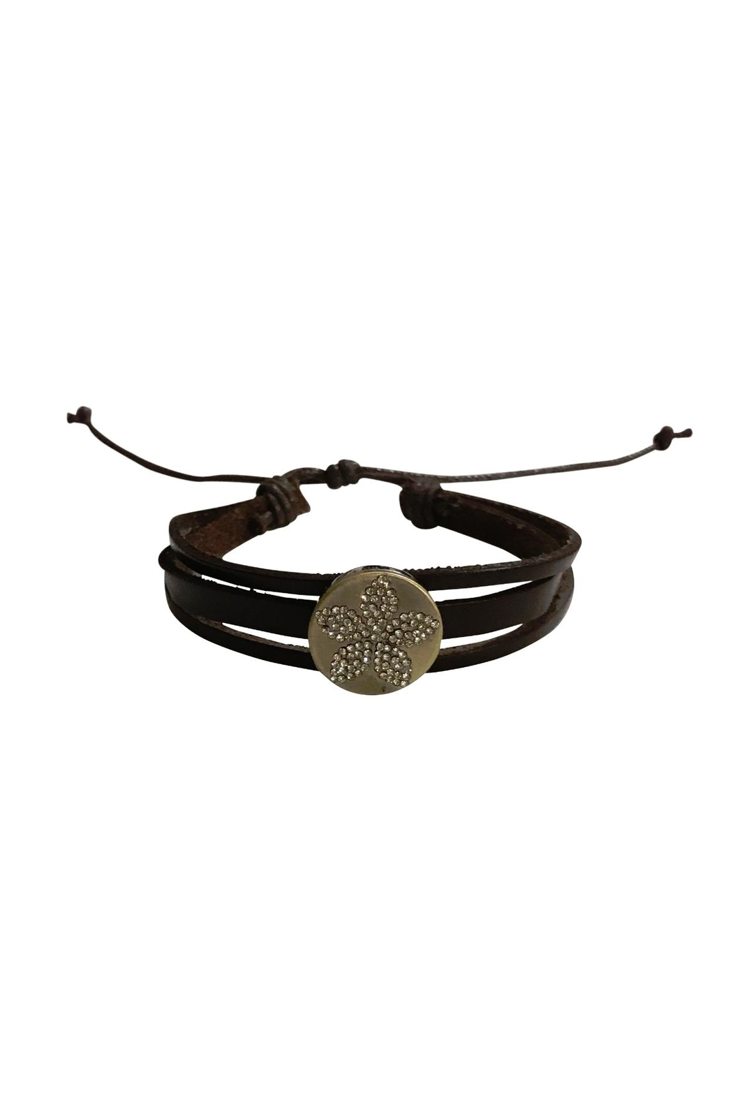 House and Garden Boutique Leather Snap Bracelet - Main Image