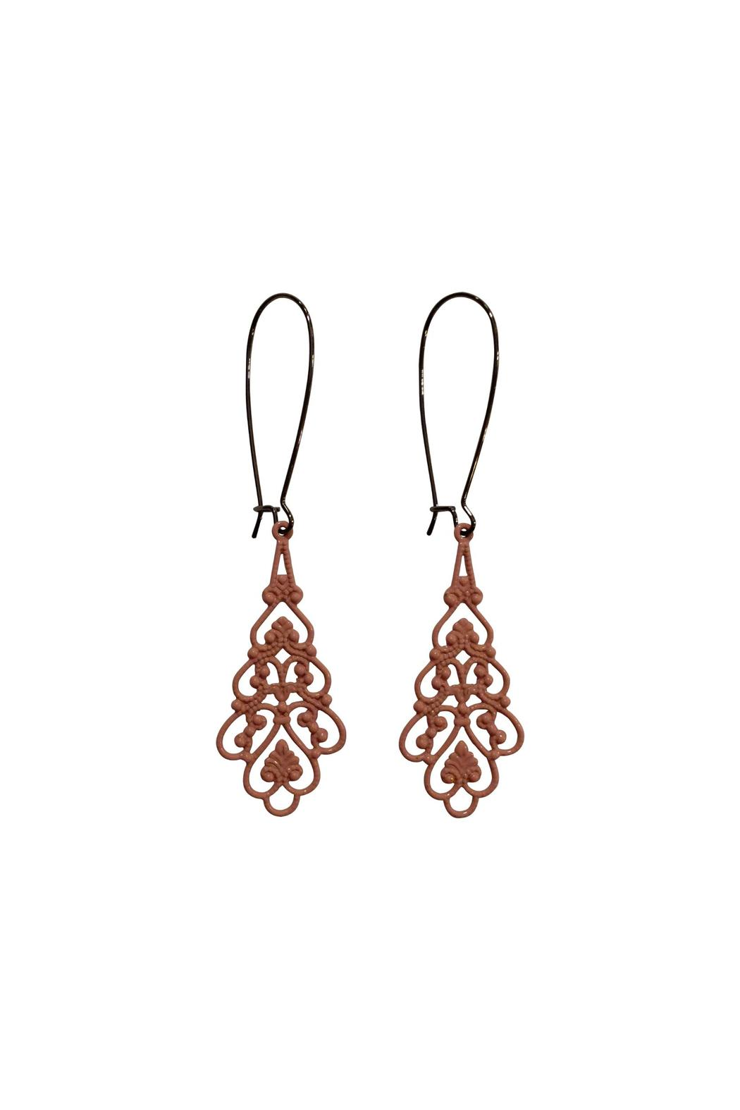 House and Garden Boutique Pink Lacy Earrings - Main Image