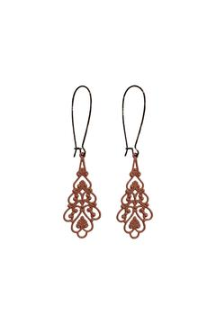 House and Garden Boutique Pink Lacy Earrings - Alternate List Image