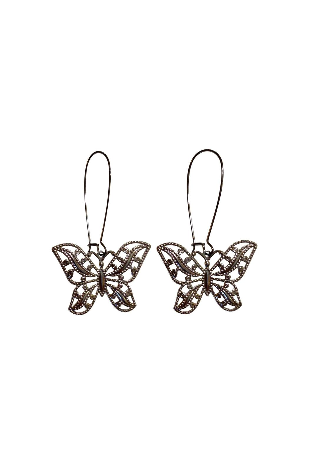 House and Garden Boutique Silver Butterfly Earrings - Main Image