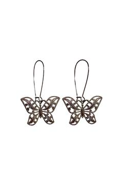 House and Garden Boutique Silver Butterfly Earrings - Alternate List Image
