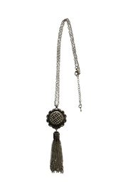 House and Garden Boutique Snap Tassel Necklace - Front cropped