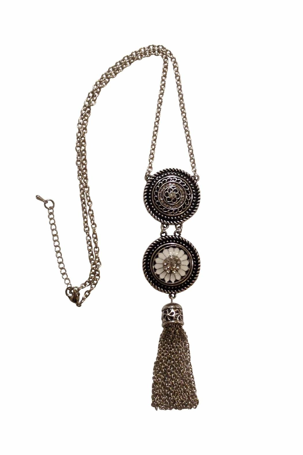 House and Garden Boutique Tassel Snap Necklace - Main Image