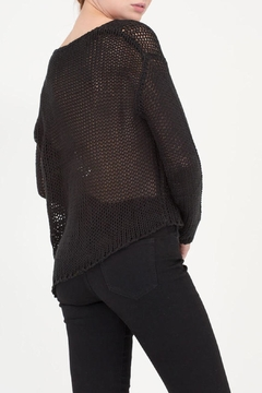 House of Atelier Asymmetrical Black Sweater - Alternate List Image
