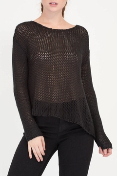 House of Atelier Asymmetrical Black Sweater - Product List Image