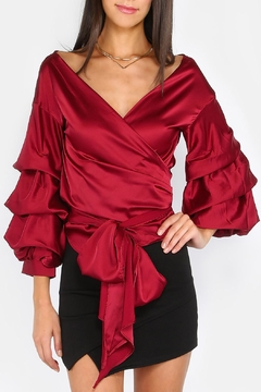 House of Atelier Billow Sleeve Wrap Top - Product List Image