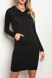 House of Atelier Black Hoodie Dress - Product Mini Image