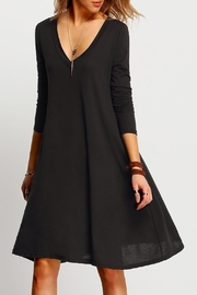 House of Atelier Black V-Neck Dress - Product Mini Image