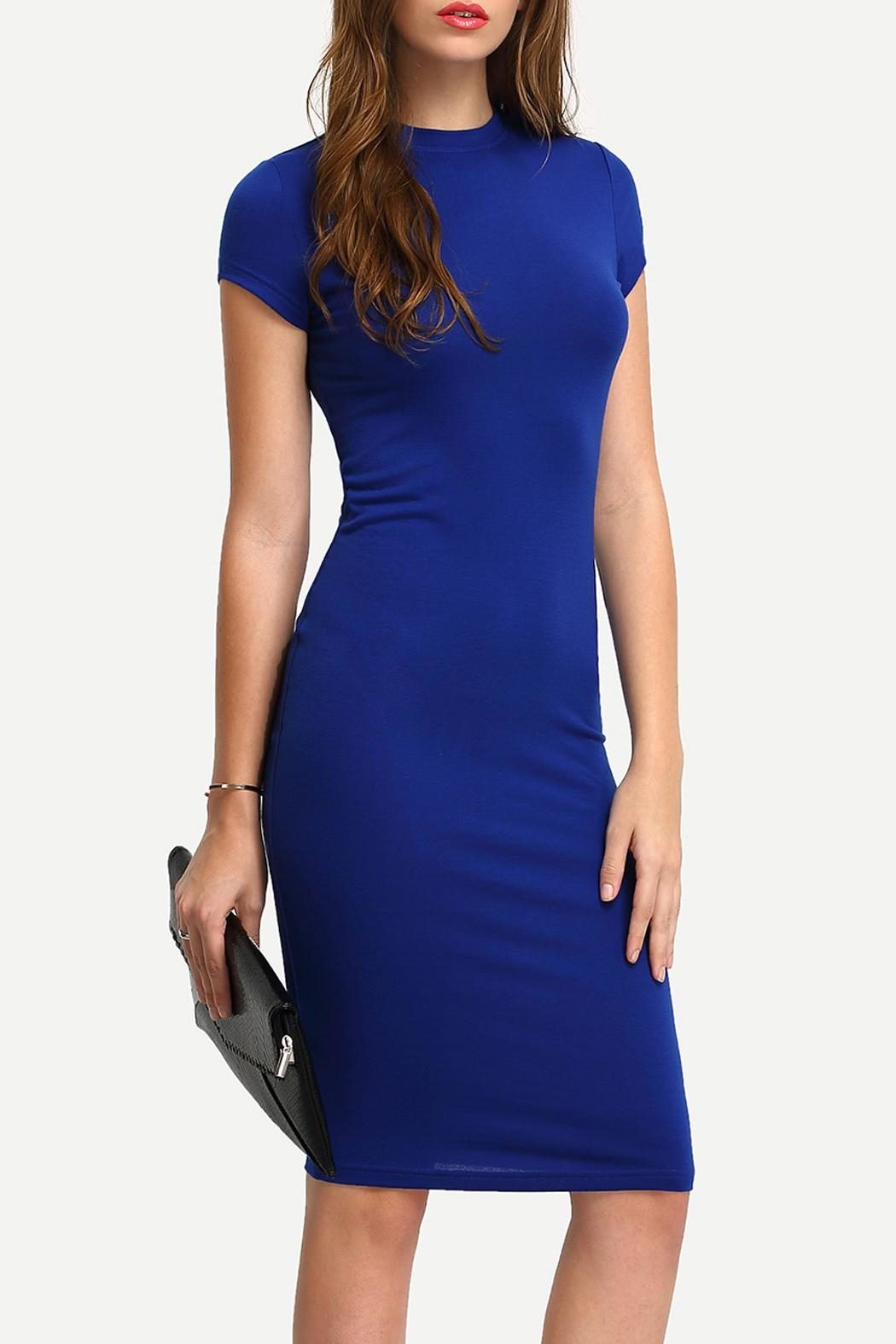 House of Atelier Blue Bodycon Dress - Main Image