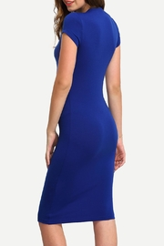House of Atelier Blue Bodycon Dress - Front full body
