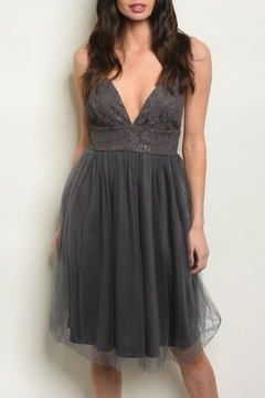 House of Atelier Charcoal Coctail Dress - Product List Image