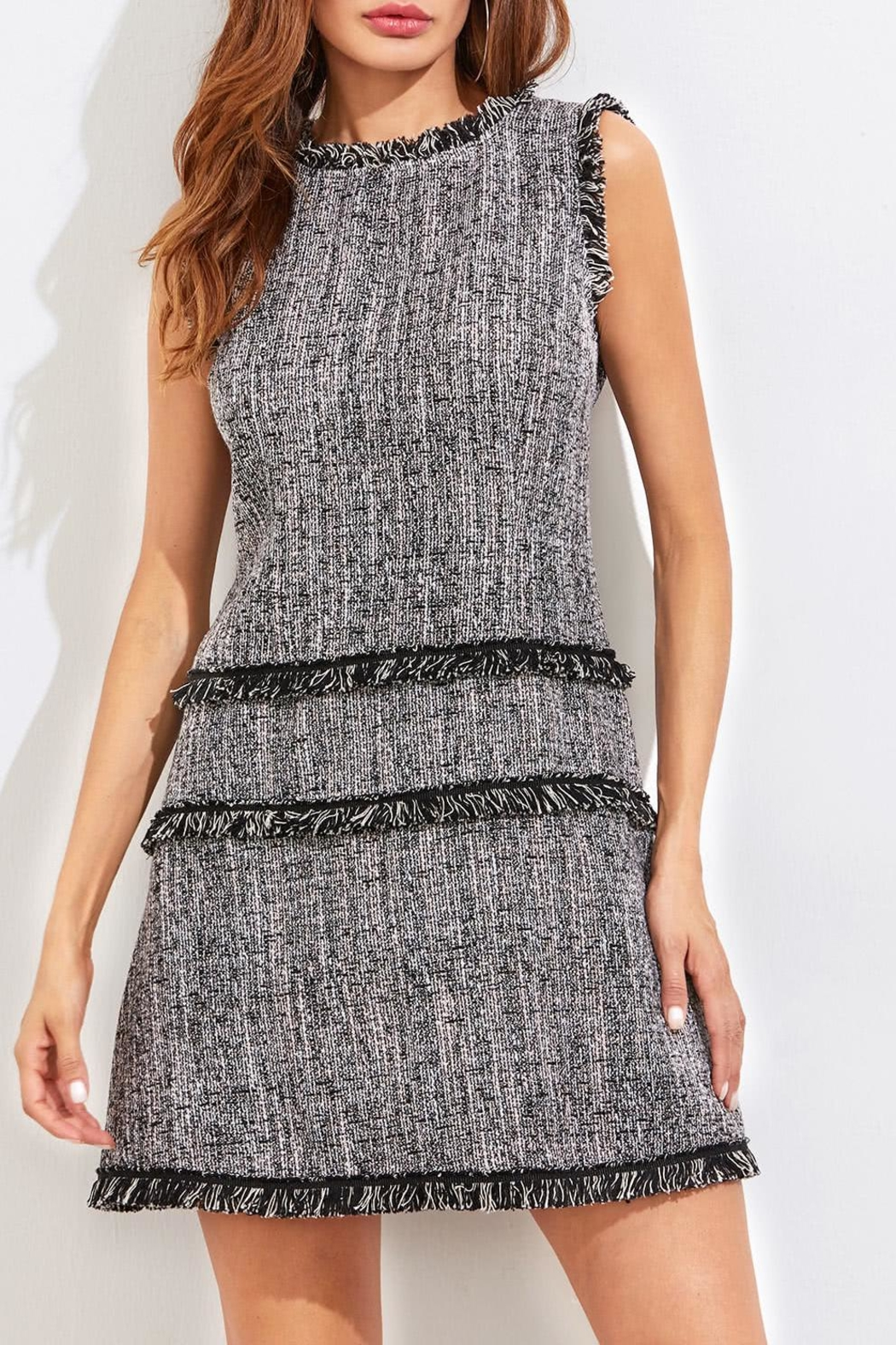 House of Atelier Classic Tweed Dress - Main Image