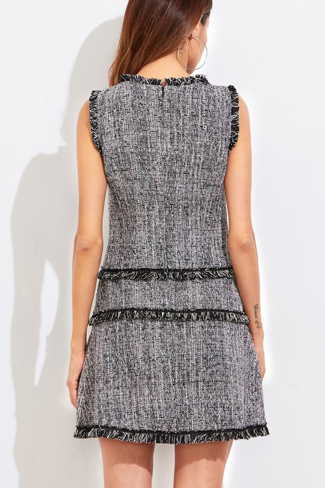 House of Atelier Classic Tweed Dress - Side Cropped Image