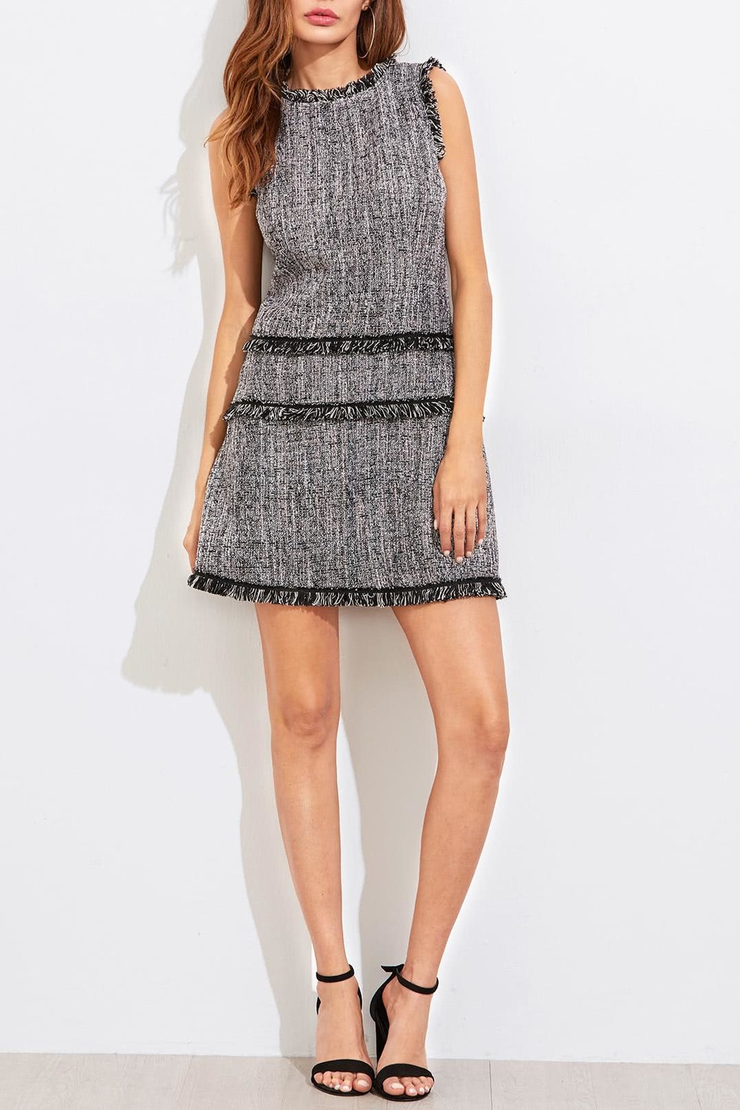House of Atelier Classic Tweed Dress - Front Full Image