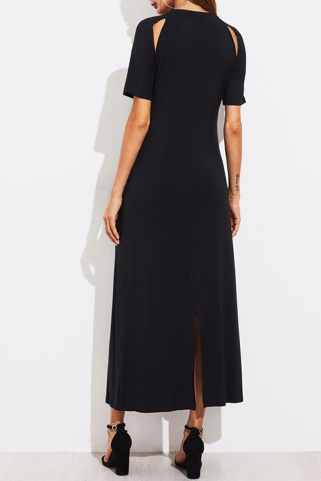 House of Atelier Cutout Black Dress - Back Cropped Image