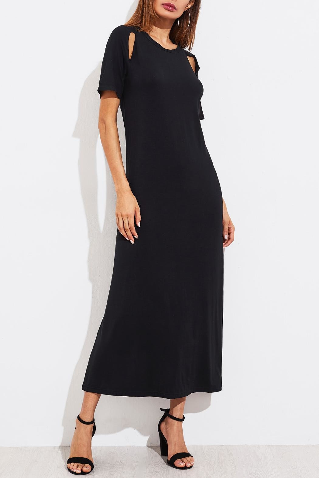 House of Atelier Cutout Black Dress - Side Cropped Image