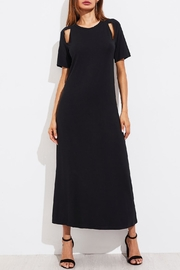 House of Atelier Cutout Black Dress - Front cropped