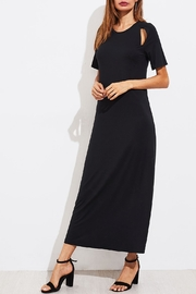 House of Atelier Cutout Black Dress - Front full body