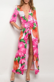 House of Atelier Deep Floral Maxidress - Product Mini Image