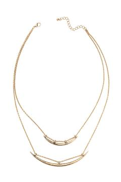 House of Atelier Double Horn Necklace - Product List Image