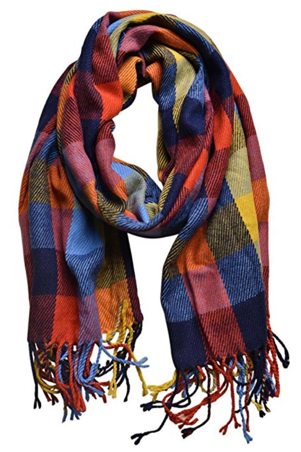 House of Atelier Euro Plaid Scarf - Main Image
