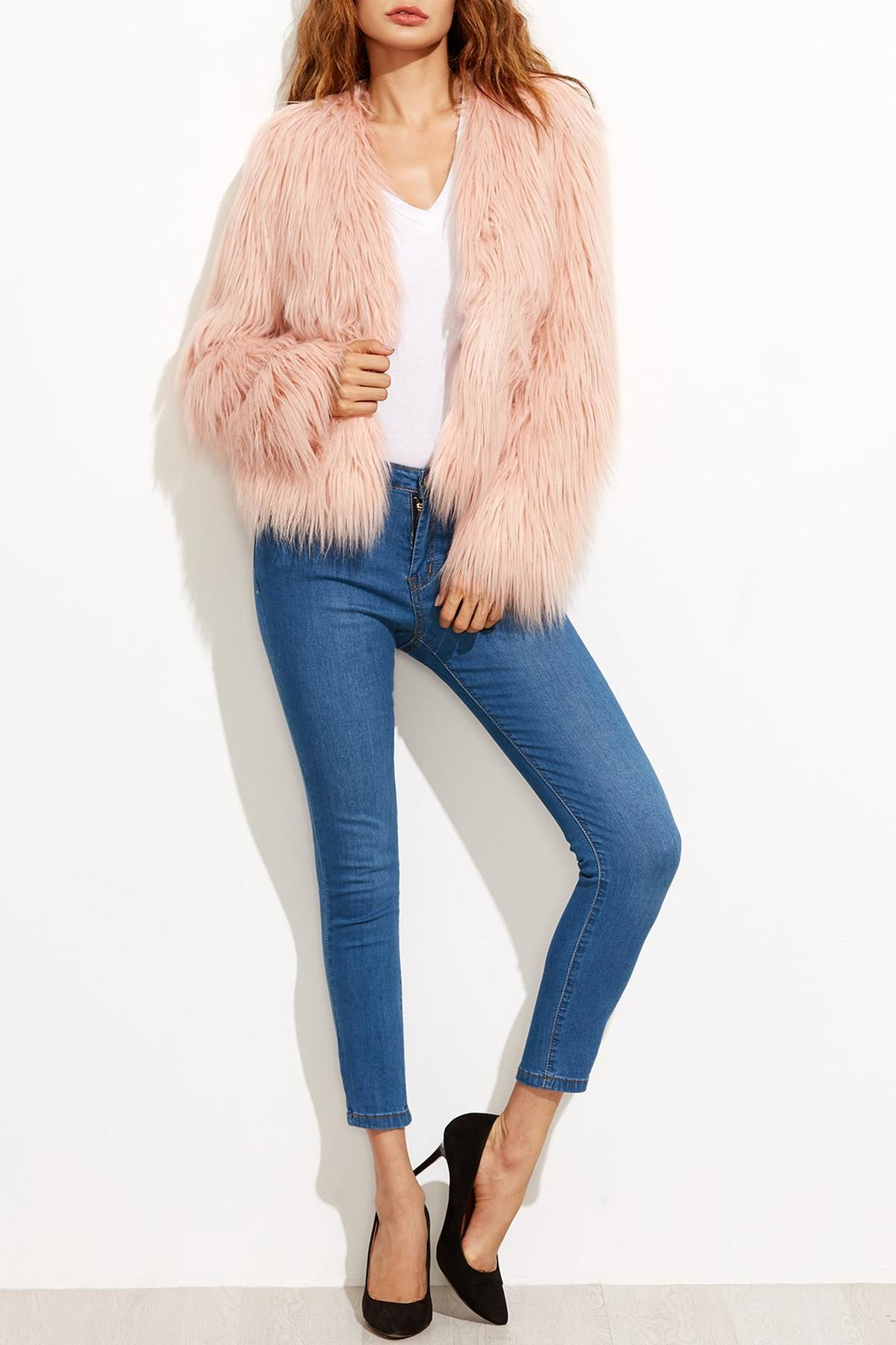 House of Atelier Faux Fur Jacket - Front Cropped Image