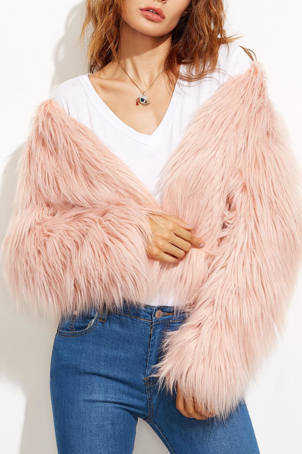 House of Atelier Faux Fur Jacket - Front Full Image