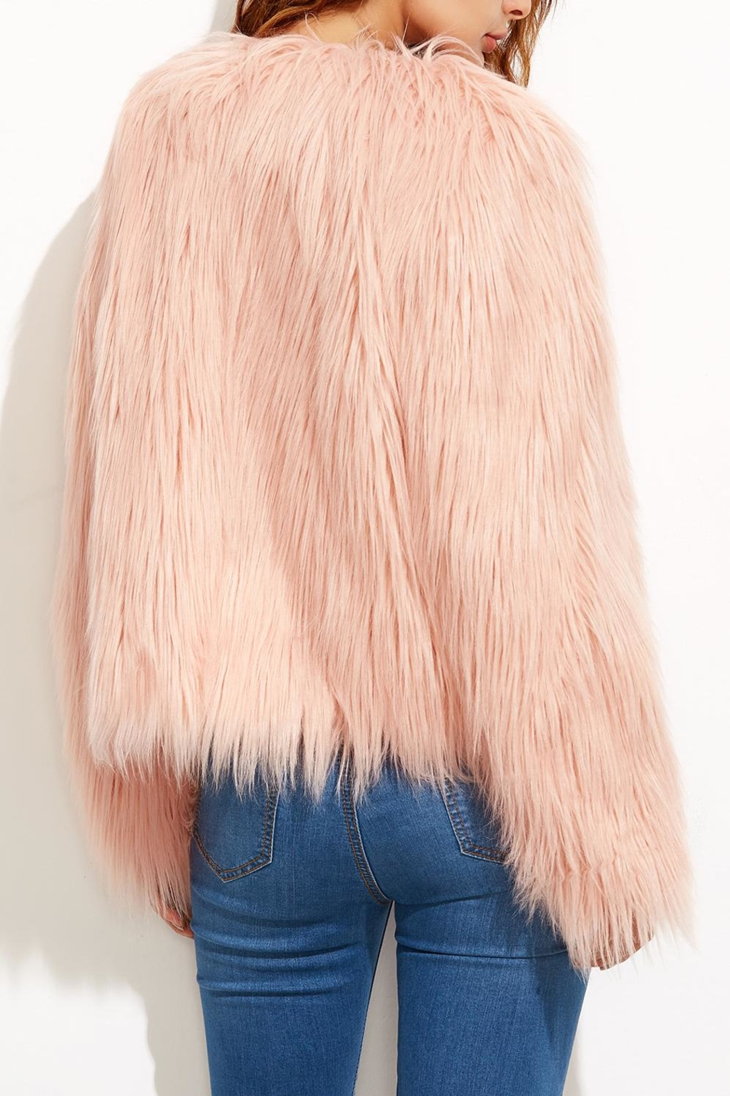 House of Atelier Faux Fur Jacket - Side Cropped Image
