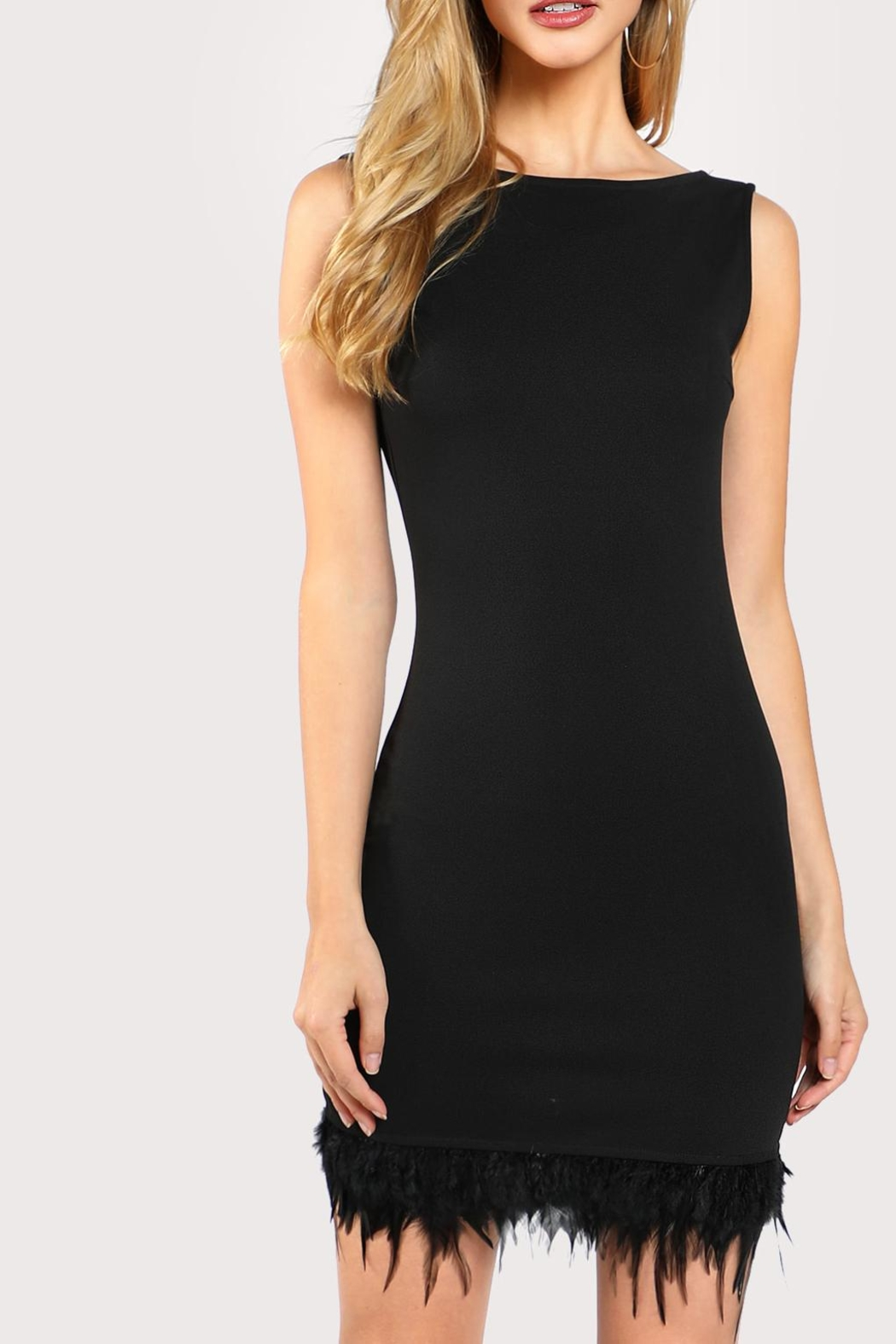 House of Atelier Feather-Trim Cocktail Dress from Montclair by ...