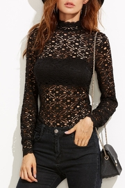 House of Atelier Floral Lace Blouse - Front cropped