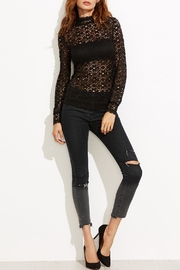 House of Atelier Floral Lace Blouse - Side cropped