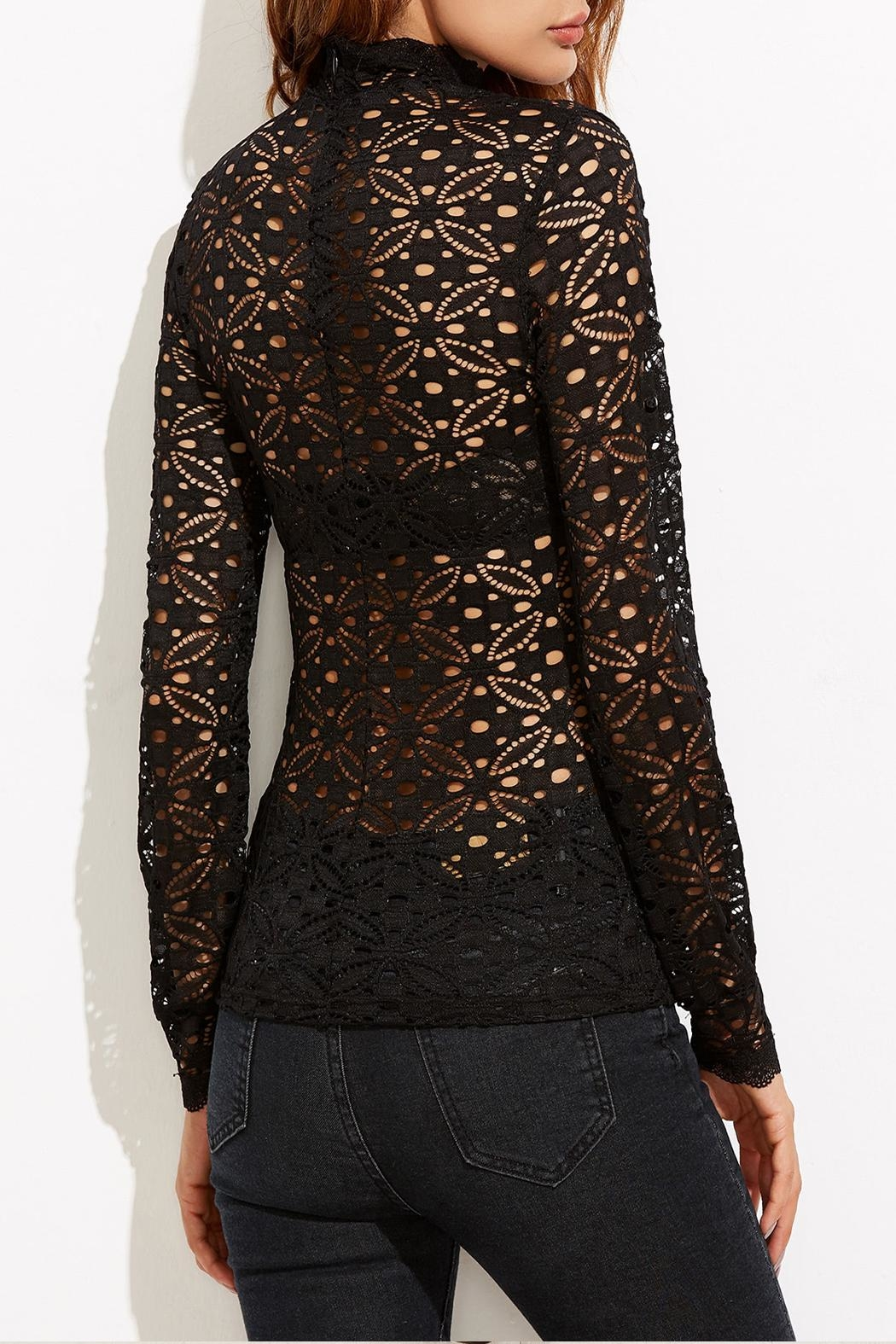 House of Atelier Floral Lace Blouse - Front Full Image