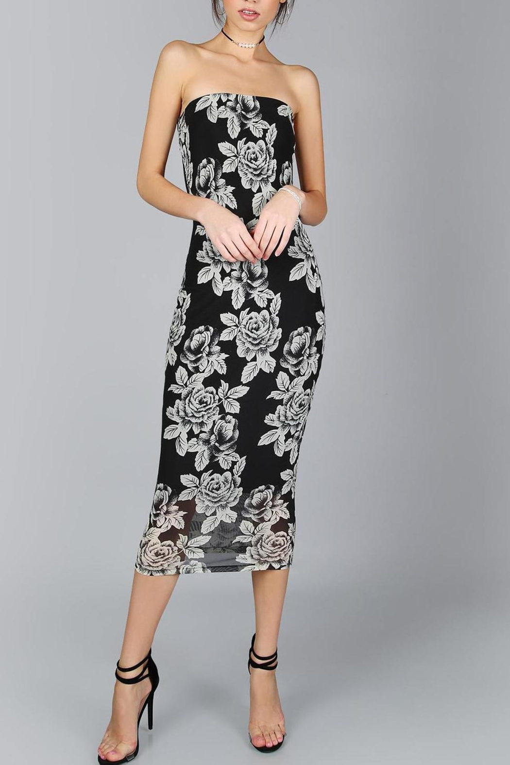 House of Atelier Flower Midi Dress - Front Cropped Image