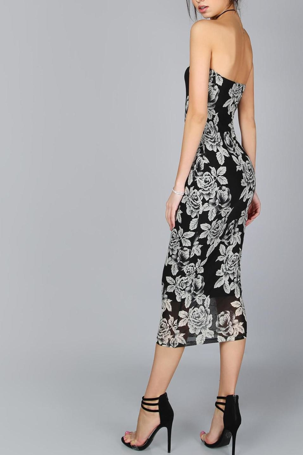 House of Atelier Flower Midi Dress - Side Cropped Image