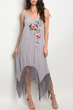 Mustard Seed Grey Floral Dress - Product List Image