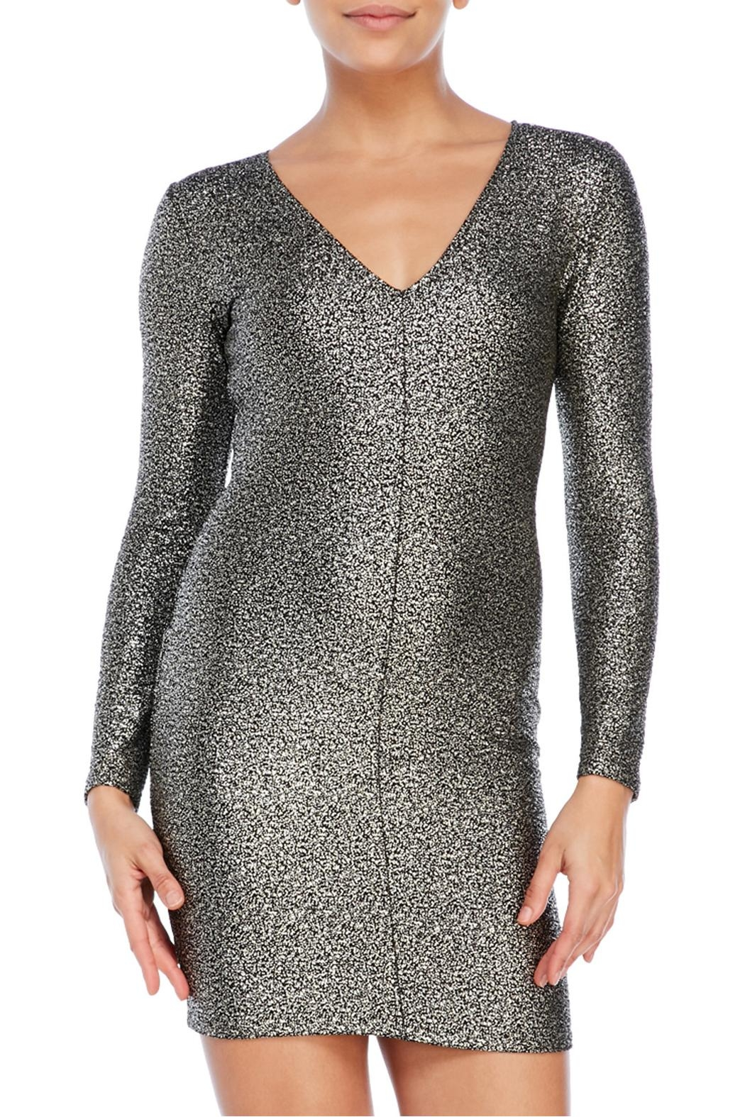House of Atelier Metallic Bodycon Dress - Front Full Image