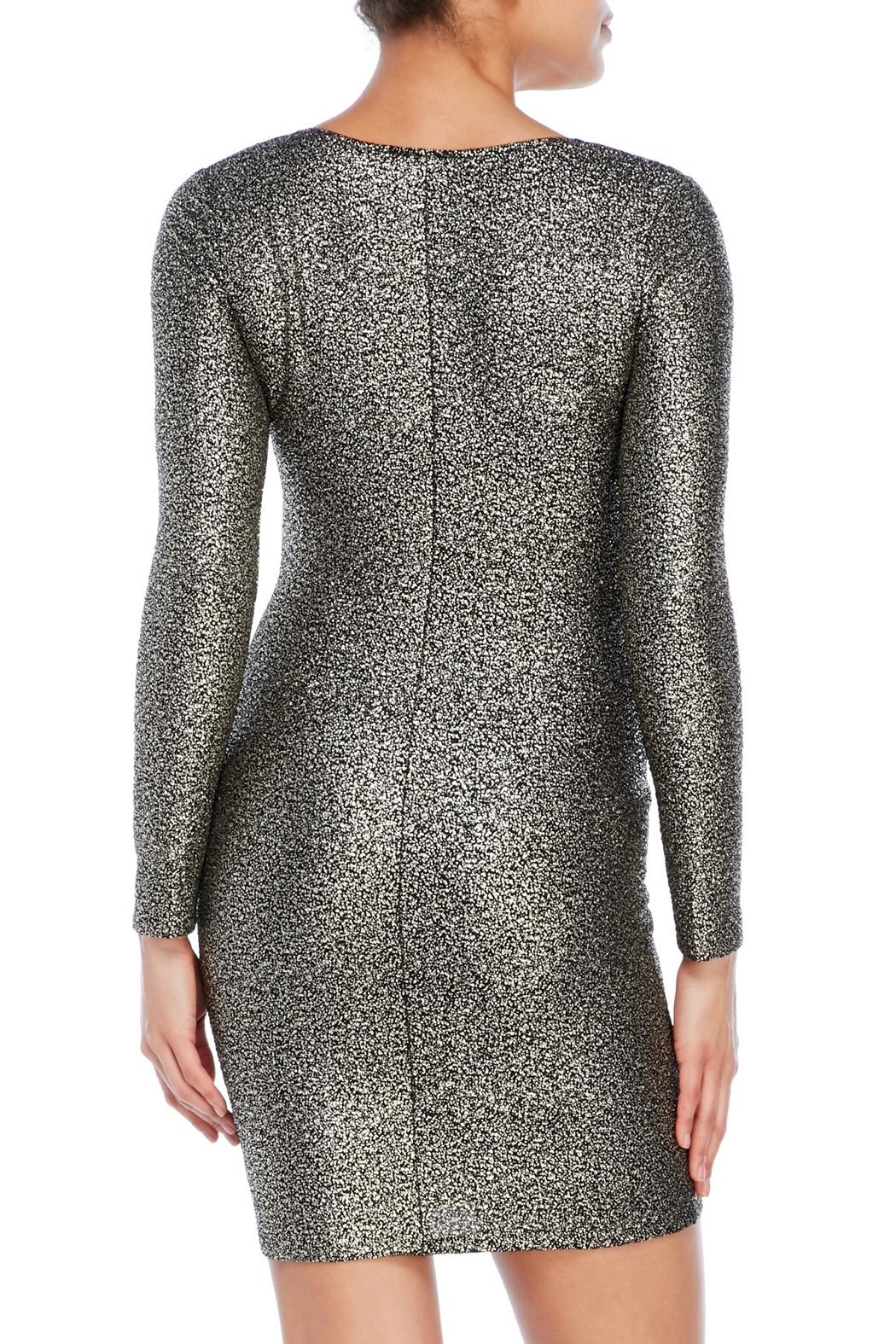 House of Atelier Metallic Bodycon Dress - Side Cropped Image