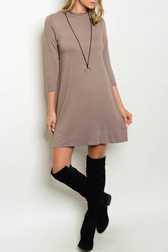 House of Atelier Mocha Jersey Tunic Dress - Product List Image